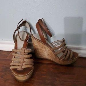 Size 7 1/2 wedge shoe